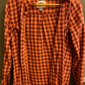 Small Red Checkered Old Navy Flannel